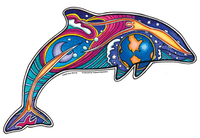 Large Night Dolphin sticker