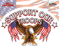 Hot Leathers Support Our Troops Biker Sticker