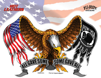 Hot Leathers Some Gave All Eagle Biker Sticker
