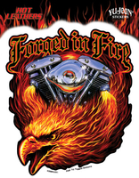 Hot Leathers Forged In Fire Biker Sticker