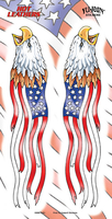 Hot Leathers Flag Eagles Biker Sticker