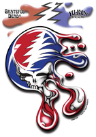 Grateful Dead Melting Steal Your Face Sticker