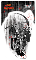 Hot Leathers Grim Reaper Biker Sticker