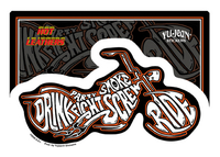 Hot Leathers Drink, Ride, Fight Biker Sticker