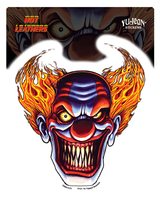 Hot Leathers Evil Clown Biker Sticker