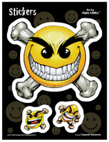 Chaos Smiley 6x8 Sticker