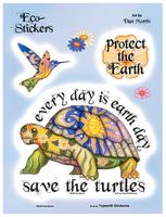 Dan Morris Save The Turtles 6x8 Sticker