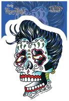 Sunny Buick Rockabilly Sugar Skull Sticker