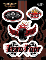 Vulture Kulture Lead Foot Biker 6x8 Sticker