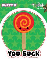 Puffy P Lollipop Suck Sticker
