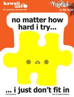 Kawaii Not Don't Fit Sticker