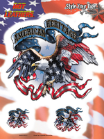 Hot Leathers American Heritage Biker 6x8 Sticker