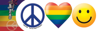 Peace Love & Happiness Gay Pride Sticker