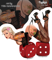 Ted Hammond Lucky Lady Pinup Sticker