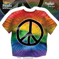 Tie Dye Gay Pride Peace Sticker