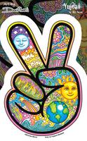 Dan Morris Peace Hand Sticker