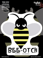 Evilkid Bee-Otch 6x8 Sticker