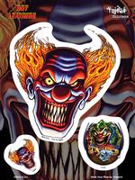 Hot Leathers Evil Clown Biker 6x8 Sticker