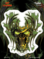 Hot Leathers Green Biker Skull 6x8 Sticker