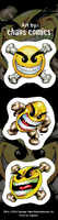 Chaos Mini Smileys Strip Sticker