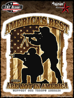 7.62 Design America's Best 6x8 Sticker