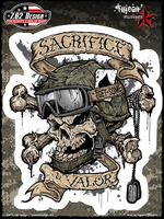 7.62 Design Sacrifice & Valor 6x8 Sticker