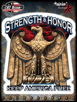 7.62 Design Strength & Honor 6x8 Sticker