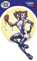 Vampire Pinup Girl Sticker | Window Stickers: Clear Backing, Put Them Anywhere!