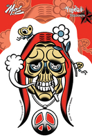 Mitch O'Connell Stoned Skull Sticker | Window Stickers: Clear Backing, Put Them Anywhere!