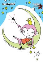 Dr Krinkles Monkey Princess Star Sticker