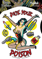 Kirsten Easthope Pick Your Poison Pinup Sticker
