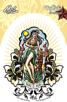 Mitch O'Connell Mai O Mai Hula Girl Sticker