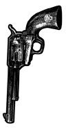 Mini Revolver Biker Stickers/25 pack