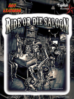 Hot Leathers Saloon Bikers 6x8 Sticker