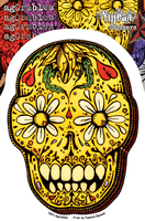 Agorables Sugar Skull Sticker