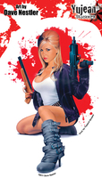 Dave Nestler Armed & Fabulous Pinup Sticker