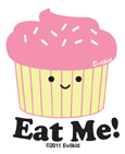Evilkid Eat Me Mini-Sticker 25-pack