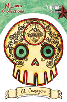 MLuera El Corazon Loteria Day of the Dead Sticker