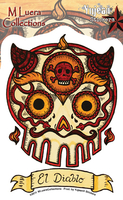 Mluera El Diablo Day of the Dead Skull Sticker