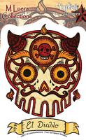 Mluera El Diablo Day of the Dead Skull Sticker