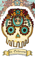 MLuera La Calavera Day of the Dead Skull Sticker