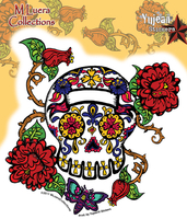 MLuera Thorned Roses Day of the Dead Sticker