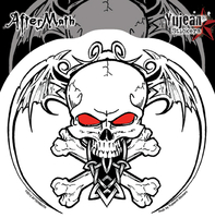 Aftermath Wingskull Sticker