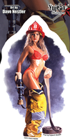 Dave Nestler Firefighter Pinup Sticker