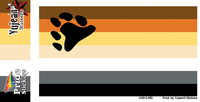 Bear Pride Flag Sticker