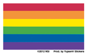 Mini Pride Flag Stickers 25 pack