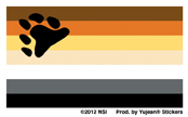 Mini Bear Flag Sticker 25-pack