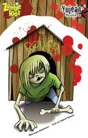 Frank Wiedemann Zombie Kid Reginald Sticker