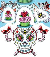 Sunny Buick Sweet & Stinky Sugar Skull Sticker | Sunny Buick