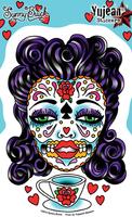 Sunny Buick's Tea Lady Sugar Skull Sticker